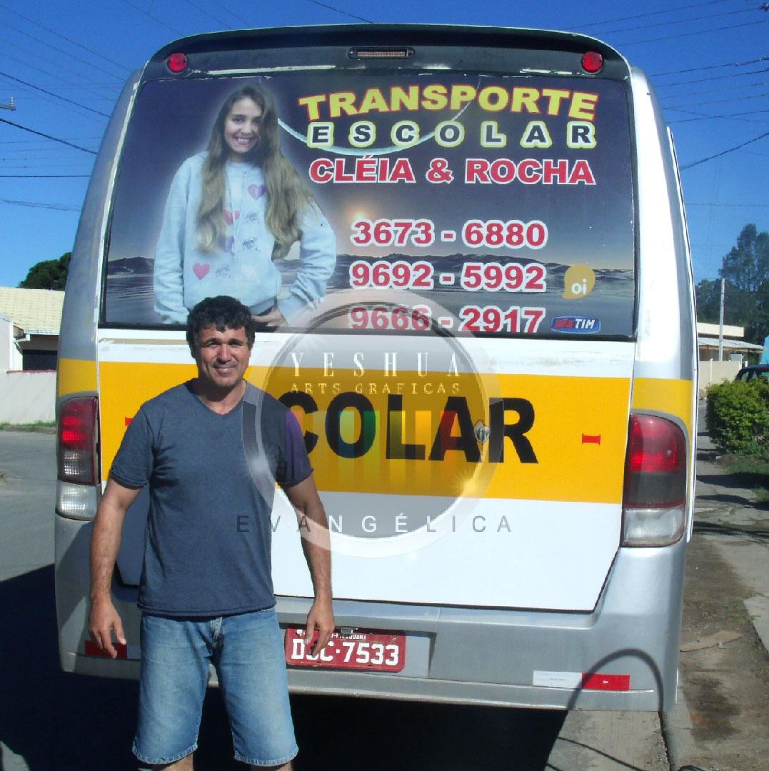 #C0940B Adesivo Perfurado (perfureid) em vidro traseiro Ônibus Escolar 288 Janelas De Vidro Sao Jose Dos Pinhais