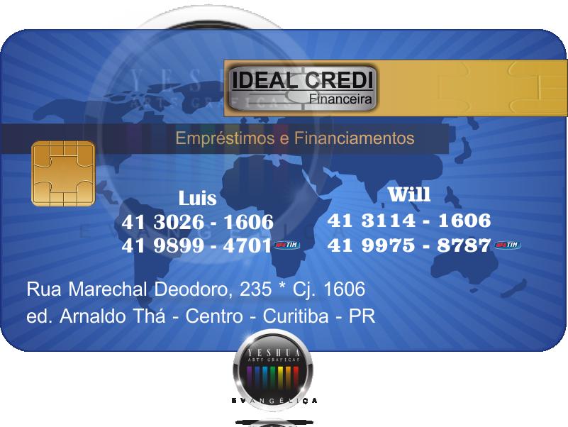 - cartao de visita curitiba, Ideal Credi Financeira