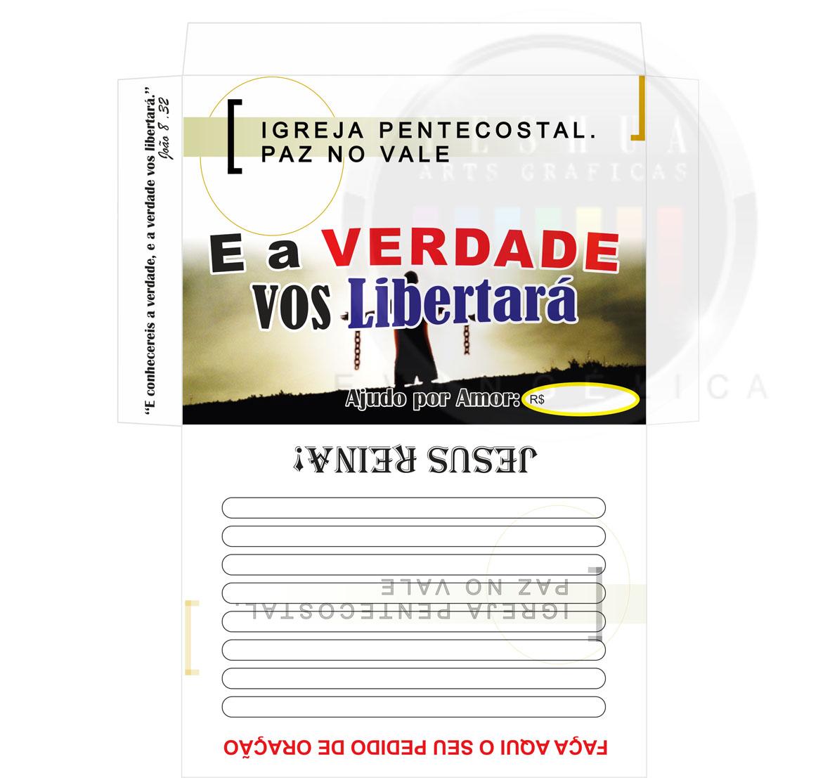Envelope do Dizimo | Modelo de Envelope | Grafica Gospel